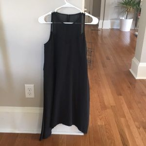 Madewell sheer sweetheart neckline dress